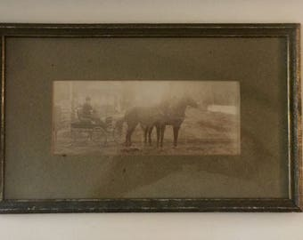 Horse and Carriage Framed Picture