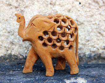 elephant decor African Elephant wood elephant statue wood statue elephant Figurine wood figurine Carved Elephant African figurine