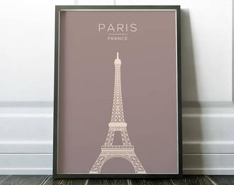 Wall Art Print, Paris Print, Travel Print, Eiffel Tower Print, Wall Art, Poster, Paris Poster, City Print, Paris Art, Travel Art, Prints