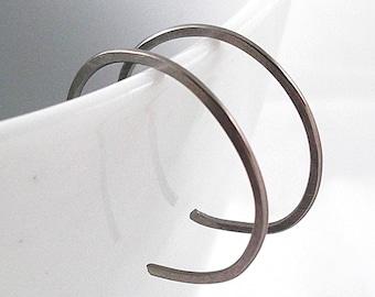 Niobium Hoop Earrings, Tiny Hypoallergenic Hoops