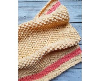 Spring Ahead Dishtowel Pattern | Easy Knitting Pattern