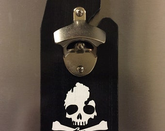 Michigan Skull Bottle Opener