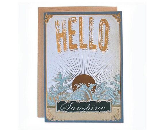 Hello Sunshine! 5 x 7  eco-friendly greeting card