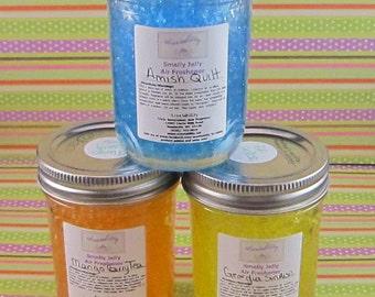 8 Ounce Smelly Jelly Jar Air Freshener, with Daisy Cut Lid