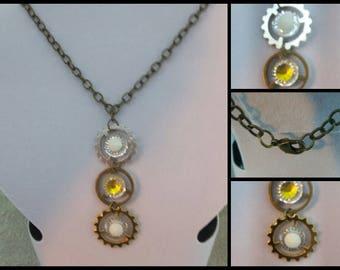 3 Gear SteamPunk Necklace