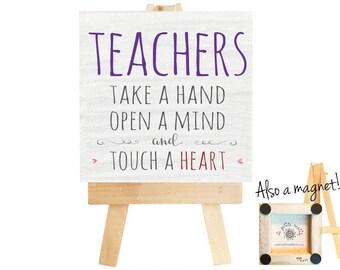Teacher gifts. Teacher. Teacher appreciation gift. Teacher appreciation. Teacher appreciation week. Teacher magnet. Magnet. Teacher quote.