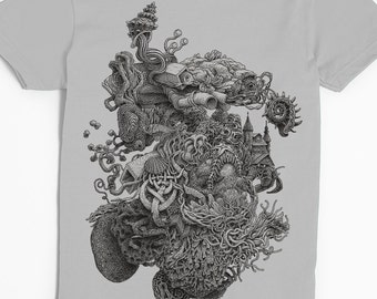 Women's Tide Pool Shirt - Weird Art Shirt - Ocean Art - Surrealism - Surreal Tshirt - Weird Stuff - Unique Strange Shirt - Cool Shirt