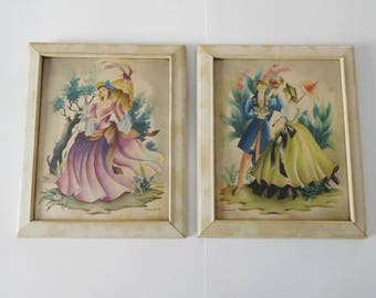 Vintage 1940s lady prints Shabby style lady pictures