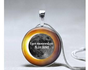 Solar Eclipse Jewelry pendant Total Solar Eclipse 2017 necklace souvenir