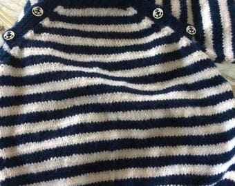 Blue and white striped sailor