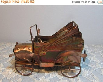 SALE Copper Jalopy Car Music Box Plays Happy Days are Here Again