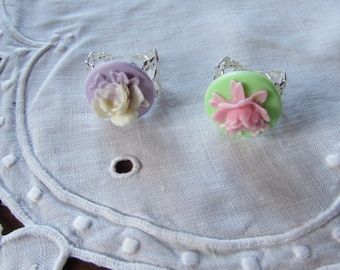 Adjustable pink filigree - 2 color choices.
