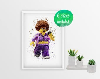 Lego disco diva, Instant Download, 6 print sizes included  10785a