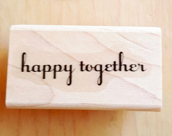 Happy Together Rubber Stamp retired from Stampin Up