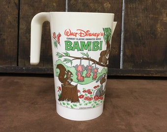 Very Rare 1982 Walt Disney Bambi Coca-Cola Pitcher