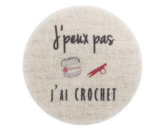 I crochet, I can't button