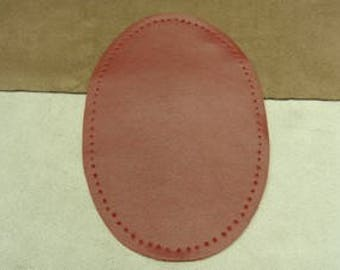 pair of elbow patch-leatherette sewing - red - big model