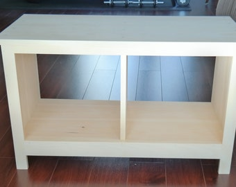 ON SALE Unfinished Entryway Bench Custom Furniture Shoe Cubby Cubby Storage  Bench Bench Seat Entertainment Center
