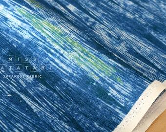 Japanese Fabric Kokka Heijastus  - blue - 50cm