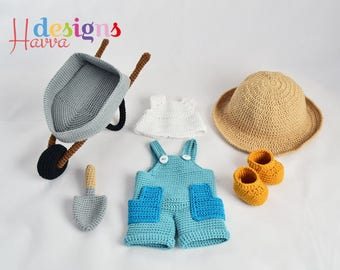 Crochet Pattern - Tommy The Gardener Clothes and Accessories. (Just clothes and accesories)
