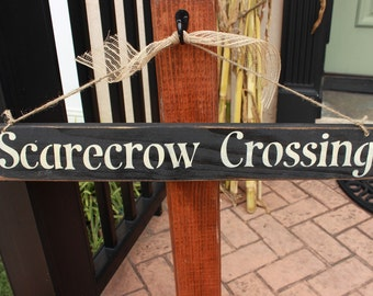 Scarecrow Crossing sign