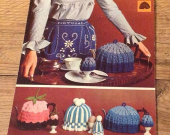 Vintage Tea and Egg Cosies Knitting  Pattern, Vintage Knitting  Pattern, Vintage Knitting  , Kitsch Home