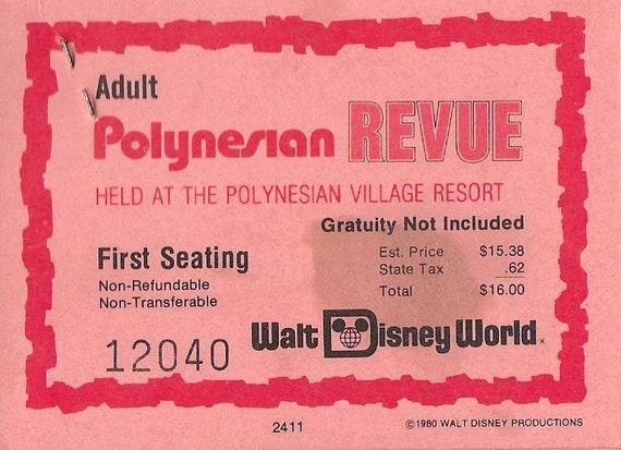 Vintage Original 1980s Walt Disney World