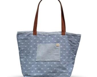 Reversible Shoulder Bag - Blue