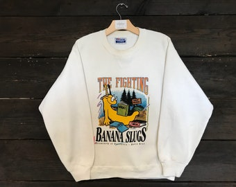 Vintage 80s Santa Cruz University Banana Slugs Sweatshirt
