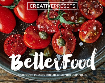 """30 Food & Life Style Lightroom Presets for Photographers """"BetterFood"""""""