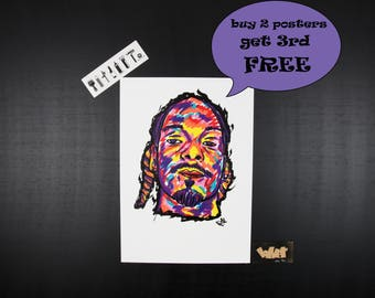 Snoop Dogg Rap poster, Perfect gift for hip hop fans, hip hop art, wall art, poster art, gift for music lovers, Snoop Doggy Dogg, rappers