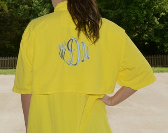 Monogrammed Fishing Shirt / Bathing Suit Cover Up