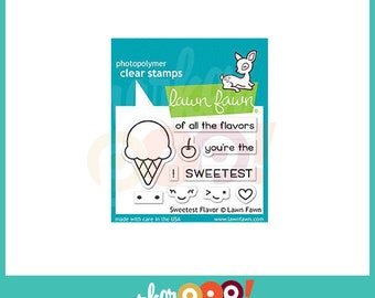 Lawn Fawn Clear Stamp Set - Sweetest Flavor