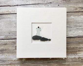 Pebble Art, Angel seaglass Art, Sharon Nowlan, 5 by 5
