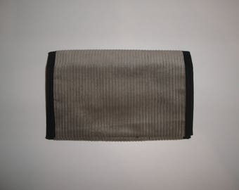 Tobacco pouch in light gray corduroy