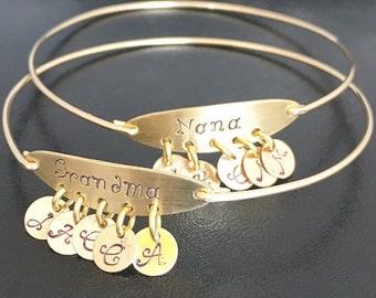 Mothers Day Gift for Nana Bracelet, Nana Gift From Granddaughter From Grandson From Grandkids, Grandma Bracelet Custom Nana Jewelry Gift