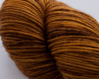 Madeleine sport weight - Bronze- 100% SW Merino Hand Dyed Yarn 325 yds