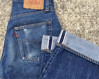 Vintage levis 501 80s-90s Levis 501s - 501xx Jeans: Vtg levi 501s in fair condition sizes 26