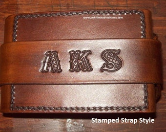 Stamped Option - Custom Folding All-Leather Travel Cribbage Board