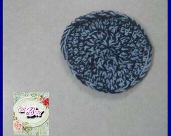 Potholder, chunky crochet potholder, blue, ready to ship