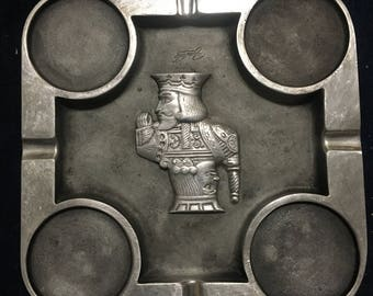 Vintage Bruce Fox cast aluminum ashtray