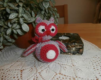 Crocheted owl - stuffed animal