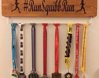 Personalised Medal Hanger Cycle Run etc