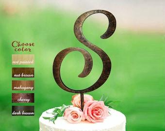s Cake Topper, Cake Topper for Wedding, Cake Topper Custom, Monogram Cake Topper Wood, Rustic Cake Topper, Anniversary Cake Topper, CT#119