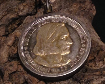 Vintage 1892 Columbian Exposition Half Dollar Necklace