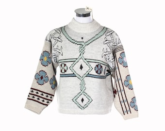 Oxbow David Karp Mvseo coolest celtic knots NOS ultra warm & thick wool blend snowboarder - skying sweater made in France, new with tags.