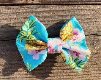 Pineapple Wahine Cotton Bow