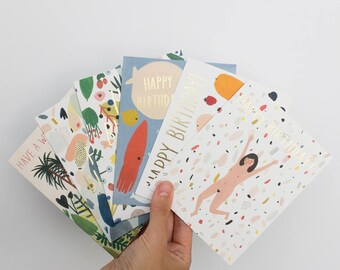 Birthday Card Pack of 6