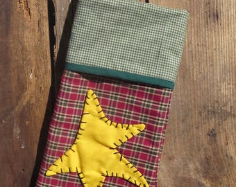Country Primitive Christmas Stocking