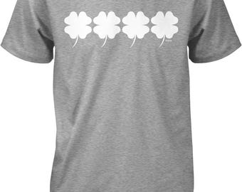 4 Leaf Clovers, Good Luck Charm, St. Patrick's Day Men's T-shirt, NOFO_00943